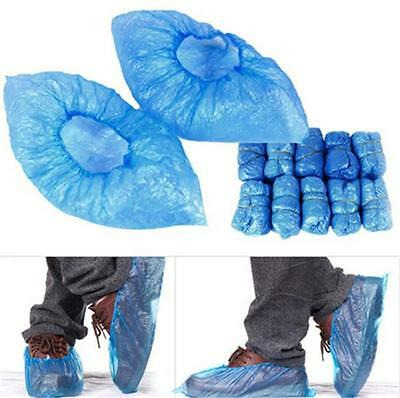Disposable Plastic Blue Anti Slip Shoe Covers Cleaning Overshoes Protective - CB