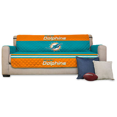 """Miami Dolphins 75"""" x 110"""" Sofa Water Absorbent Furniture Protector - NFL"""