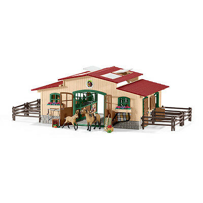 Schleich 42195 Stable With Horses And Accessories (Farm Life) Plastic Figure