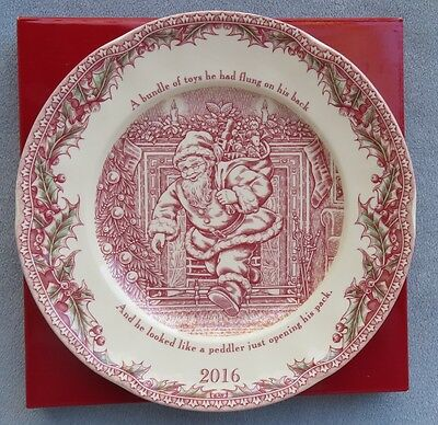 Johnson Brothers 2016 Twas the Night Before Christmas Collector Plate NIB