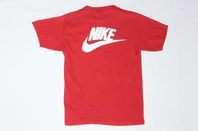80s Vintage Nike Heart & Sole Run Race Orange Tag Red T Shirt S