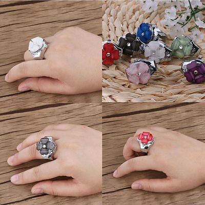 Girl Gift Creative Steel Round Dial Elastic Finger Ring Watch Quartz