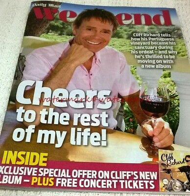 CLIFF RICHARD - Cover & Photo Feature in WEEKEND Magazine, Nov 2016