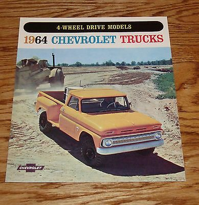 1964 Chevrolet Truck 4-Wheel Drive Models Sales Brochure 64 Chevy Pickup