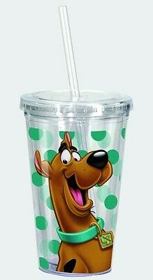 Scooby Doo Acrylic Cup/Drinking Glass with Straw