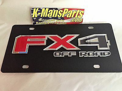 Ford FX4 Off Road 2015 2016 logo style carbon steel vanity license plate tag