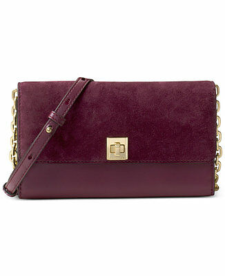 25bf7fce162a NWT Michael Kors Natalie Extra Large Wallet On A Chain Shoulder Bag Plum   248