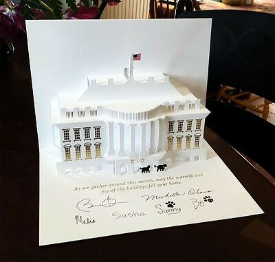 Signed by the Artist - 2013 Official Obama White House Pop-up Christmas Card