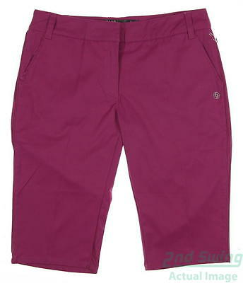 New Womens Lija Golf Shorts Size 2 Purple MSRP $110