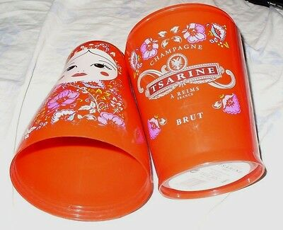 Tsarine Champagne Advertising Matryoshka Shaped Cover For Bottle From France