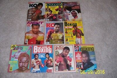 1982 The Ring World Boxing KO LARRY HOLMES Lot of 10 Issues NO LABELS Champion