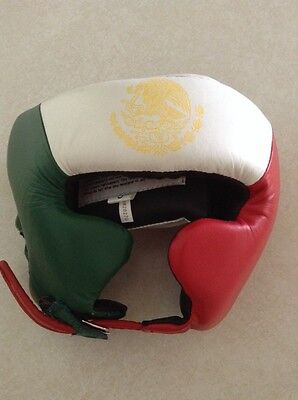 Ringside Competition Boxing Headgear with Cheeks, Mexican Flag, Small, NEW