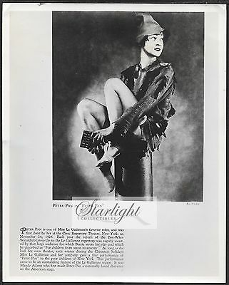 Peter Pan ORIGINAL 1930s Doubleweight Photo Eva LeGallienne Theater Production