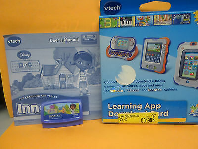 VTECH INNOTAB MAX GAME CARTRIDGE Doc McStuffins & $20 Download Card New/Sealed