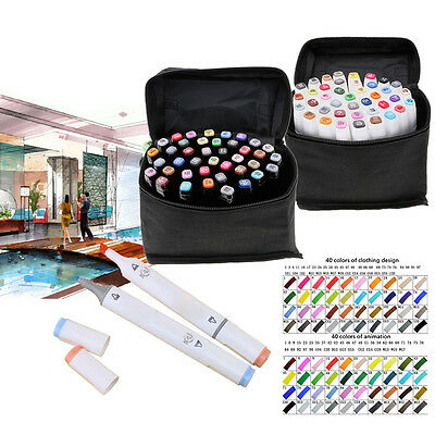 Twin Tip Touch MARKER 40 Colours Graphic ART Sketch Fine Markers LIKE COPIC