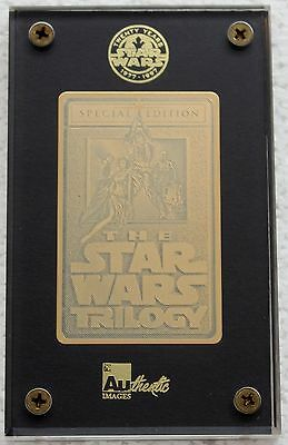 1996 STAR WARS Trilogy 24K GOLD Authentic Images Ltd Edition Special #1316/1997