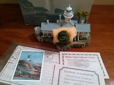Harbour Lights Lighthouse #268 CEDAR KEYS FL  New in Box COA