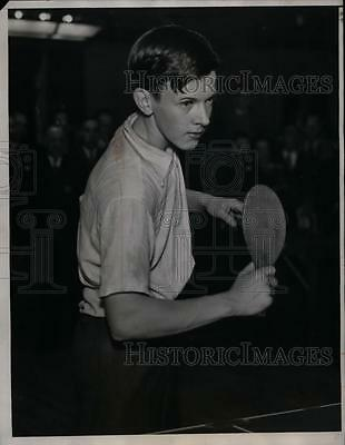 1934 Press Photo Jimmy McClure at National Table Tennis in Cleveland Ohio