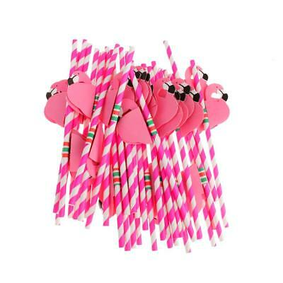 25X Wedding Decoration Sweet Funny flamingos Paper Drinking Straws Birthday