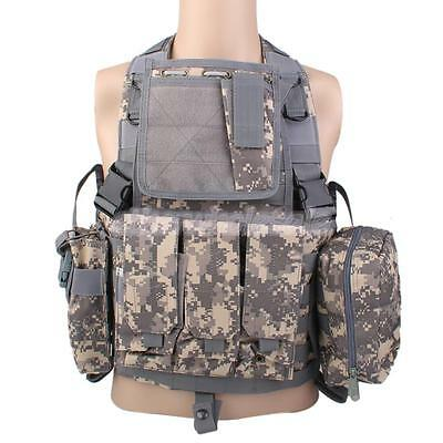 Assault Camouflage TACTIQUE MILITAIRE GILET Paintball Airsoft Chasse vitesse
