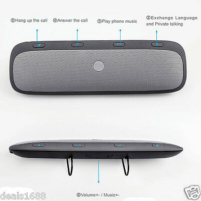 For Motorola Roadster Pro Bluetooth Car Kit Speaker Speakerphone Handsfree TZ900