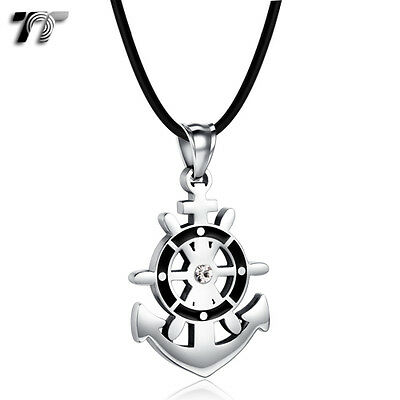 TT Stainless Steel Anchor Pendant Necklace (NP337) NEW
