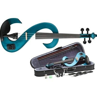 Stagg EVN Electric Violin Outfit - Metallic Blue
