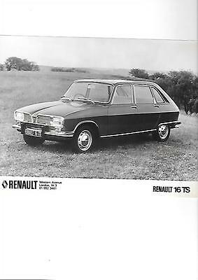 RENAULT 16 TS PRESS PHOTO ' Brochure Connected'