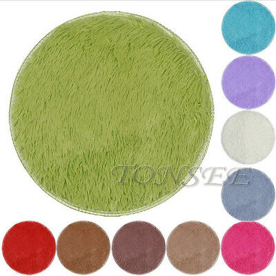 NEW Fluffy Rugs Anti-Skid Shaggy Area Rug Home Bedroom Carpet Round Floor Mat
