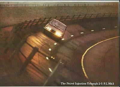Triumph Petrol Injection 2.5 Pi Mk2 Saloon & Estate Sales Brochure March 1972