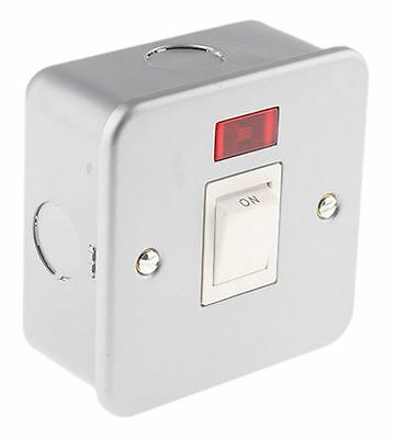 New 20A Double Pole Dp Switch With Neon Light Metal Clad Industrial Electrical