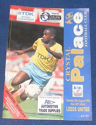 Crystal Palace Home Programmes 1994-1995