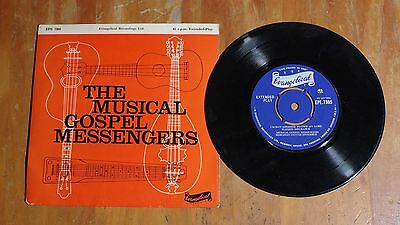 "'Musical Gospel Messengers' HAWAIIAN GUITAR ENSEMBLE 7"" vinyl single EP EPE 7305"