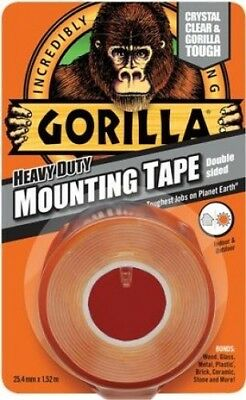 Gorilla Glue Heavy-Duty Double Sided Mounting Tape 25.4mm x 1.52m