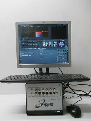 NewTek TC50 TriCaster Broadcast Duo Full Studio HDD/Software/Monitor/Kybd/Mouse