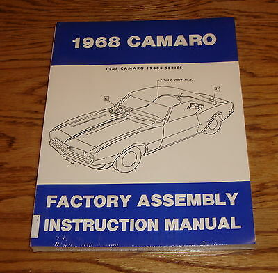 1968 chevrolet camaro factory assembly manual 68 chevy 23 50 rh picclick com 1968 camaro assembly manual 1968 camaro factory assembly manual