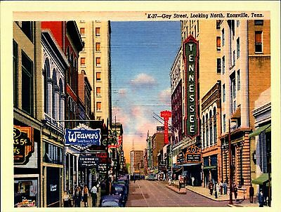 Gay Street, Knoxville, Tennessee TN Vintage REPRO Postcard