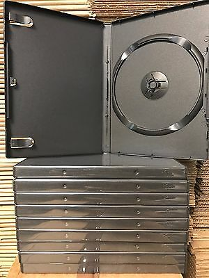10 Black cases 14mm Standard High Quality Empty DVD Cases with the insert - NEW!