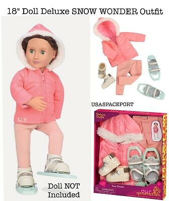 """Springfield 2 in 1 Deluxe Winter Set for 18/"""" Dolls Clothes for Winter Snowsuit"""