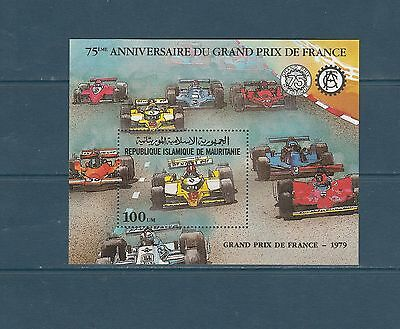 Mauritanie bloc automobile grand prix de France   1981  num: 33  **
