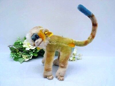 STEIFF MULTI-COLORED MONKEY MUNGO, 17 cm  with button