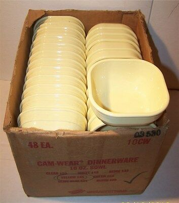 48  Cambro Yellow 10oz Bowl  - Unused