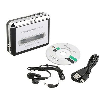Tape to PC Super USB Cassette-to-MP3 Converter Capture Audio Music Player NEW UO