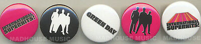 GREEN DAY: Superhits UK PROMO 5x PIN BADGES Pack WEA Stunning New