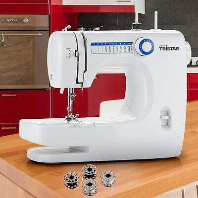 Sewing machine with 10 built-in Stitch pattern free arm function Tristar SM-6000