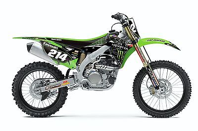NSTYLE MONSTER TEAM GREEN KX450F GRAPHICS & TRIM KIT ( 2012 to 2015 )  N40-3749
