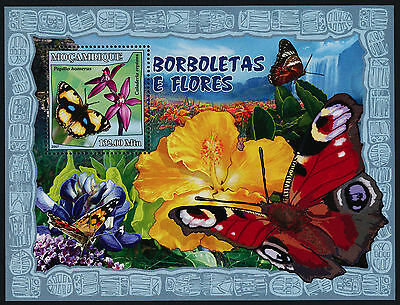Mozambique 1794 MNH Butterflies, Flowers