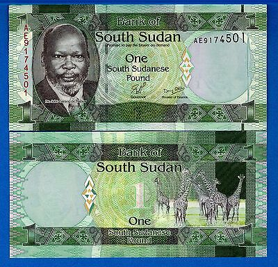 South Sudan P-5a One Pound Year 2011 Uncirculated Banknote FREE SHIPPING