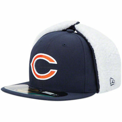 Chicago Bears On-Field Dog Ear 59FIFTY NE Tech Fitted Hat - Navy Blue - NFL