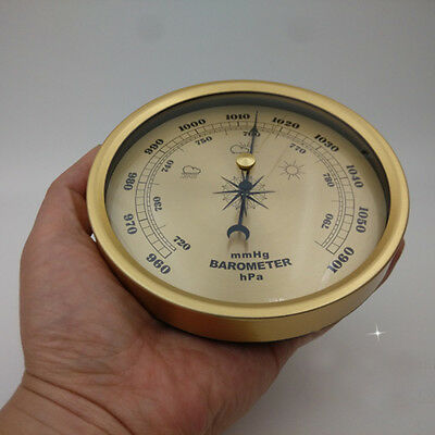 132mm Barometer Weather Mechanical Fishing Outdoor Vintage Style 960~1060hPa New